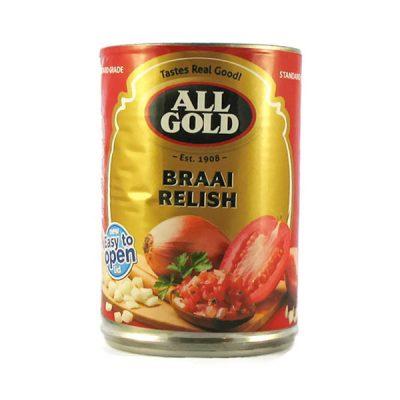All Gold Braai Relish 410g can