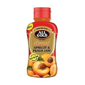 All Gold Jam Apricot and Peach Skweezi bottle 460g