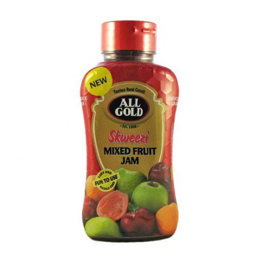 All Gold Jam Mixed Fruit Skweezi bottle 460g