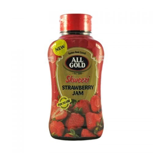 All Gold Jam Strawberry Skweezi bottle 460g