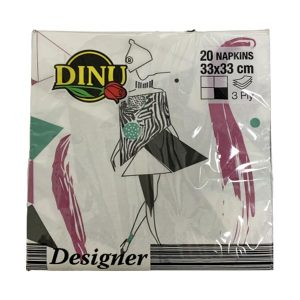 Dinu Designer Napkins Africa Ladies 20 units