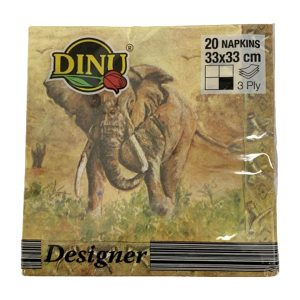 Dinu Designer Napkins Elephants 20 units