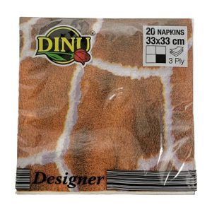 Dinu Designer Napkins Ethnic Origin 20 units