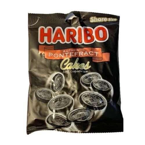 Haribo Pontefract Cakes Soft Liquorice 140g bag
