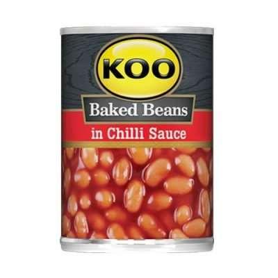 KOO Baked Beans in Chilli Sauce 420g