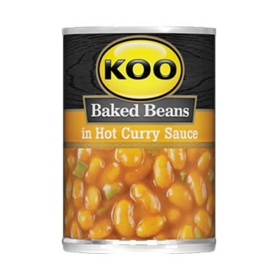 Koo Baked Beans in Hot Curry Sauce 410g