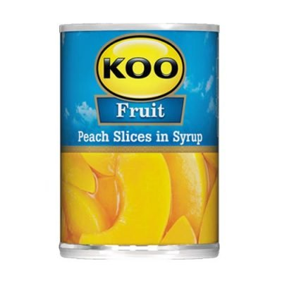 KOO Canned Fruit Sliced Peaches 410g