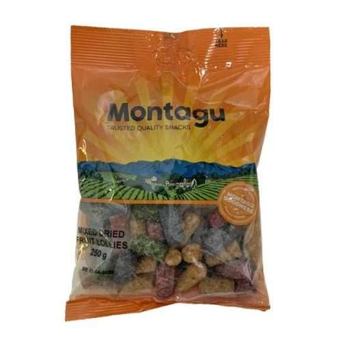 Montagu Mixed Dried Fruit Lollies 250g