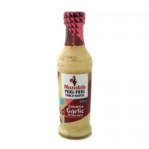 Nando's Sauce Creamy Garlic 250ml bottle