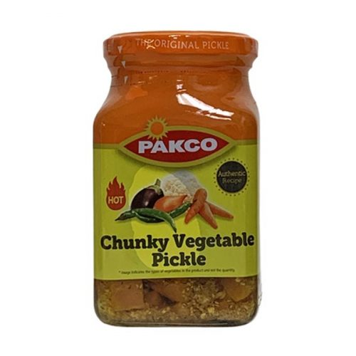 Pakco Atchar Hot Chuncky vegetable Pickle 410g jar