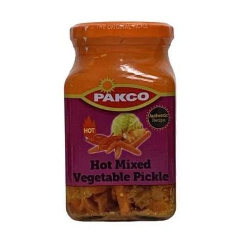 Pakco Atchar Hot Mixed Vegetable Pickle 385g jar