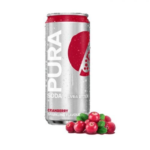 Pura Soda Cranberry single 300ml can