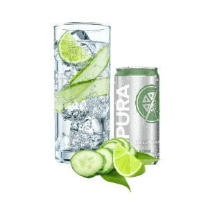 Pura Soda Cucumber & Lime single 300ml can