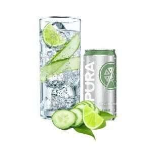 Pura Soda Cucumber & Lime single 300ml can