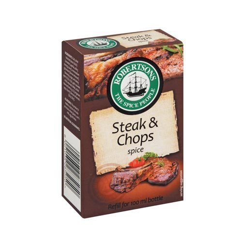 Robertsons Spice Steak and Chops Refill 80g box