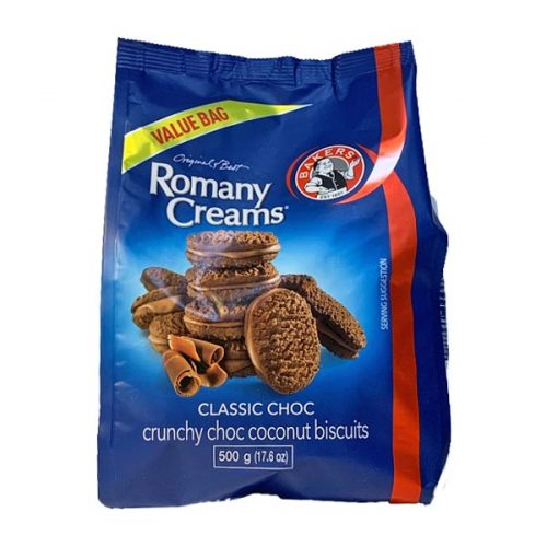 Bakers Romany Creams Classic Choc 500g value bag