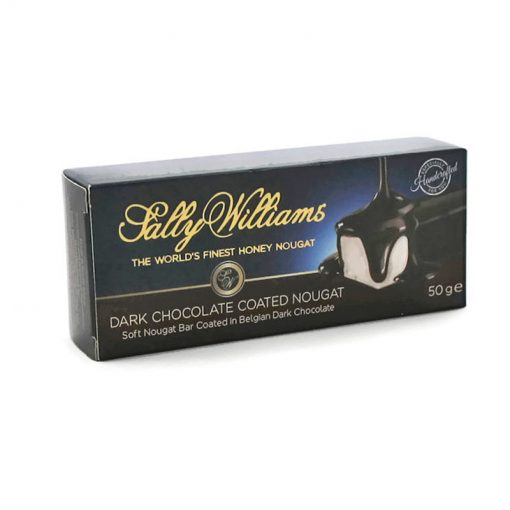 Sally Williams Nougat Dark Chocolate 50g bar