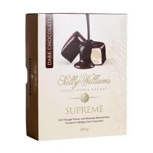 Sally Williams Nougat Dark Chocolate 200g