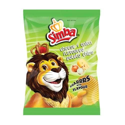 Simba Crisps Cheese and Onion 125g