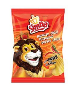 Simba Crisps Mexican Chilli 125g