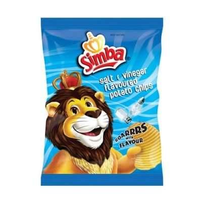 Simba Crisps Salt & Vinegar 125g