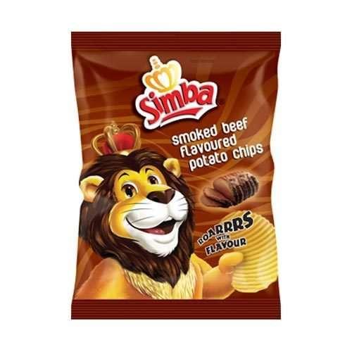 Simba Crisps Smoked Beef Flavoured 125g