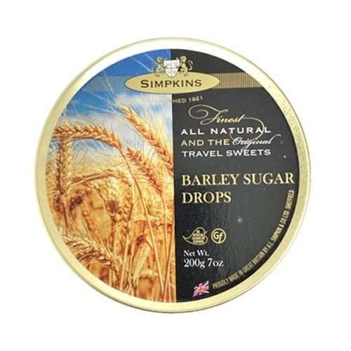 Simpkins Barley Sugar Travel Sweets 200g tin