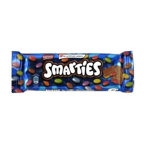 Nestle Smarties in Milk Chocolate 80g