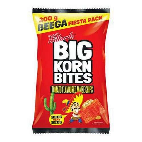 Willards Big Korn Bites Tomato 120g bag