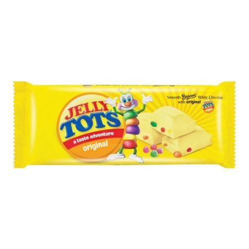 Beacon White Chocolate with Original Jelly Tots 80g