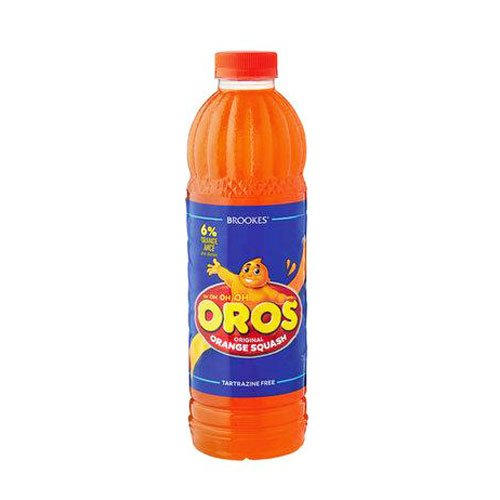Brookes Oros Orange Squash 1 litre bottle