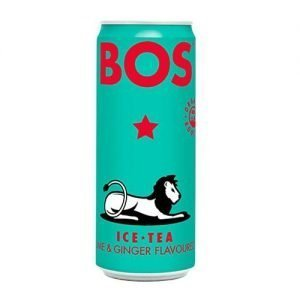 Bos Iced Tea Lime & Ginger 4 X 330ml cans