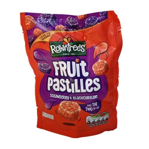Rowntrees Fruit Pastilles Strawberry & Blackcurrant 150g bag