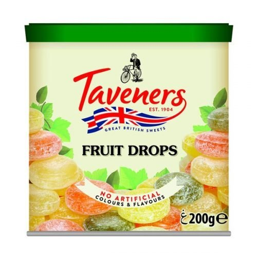 Taveners Fruit Drops 200g tin