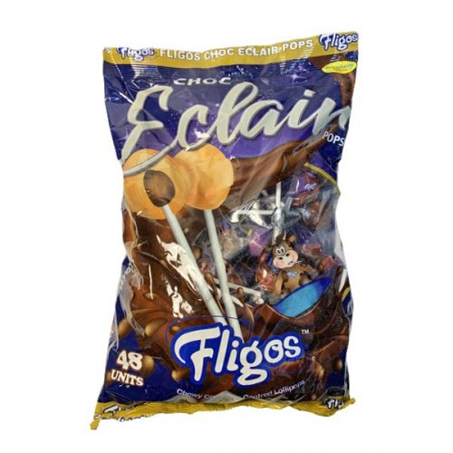 Fligos Chocolate Eclairs bag 48 Lollipops
