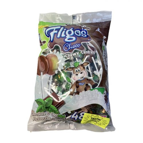 Fligos Chocolate Mint bag 48 Lollipops