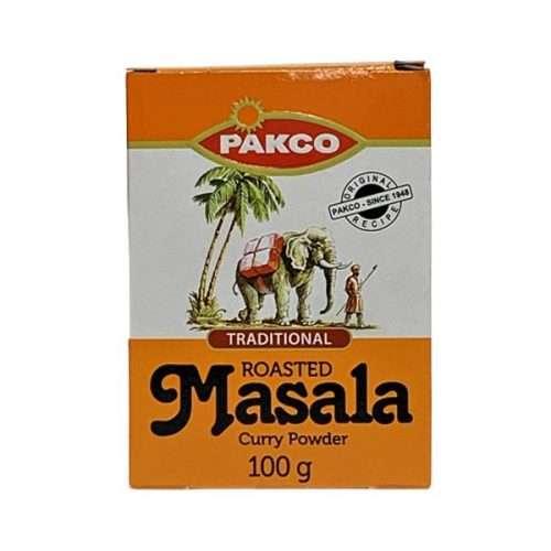 Pakco Traditional Masala Curry Powder 100g box