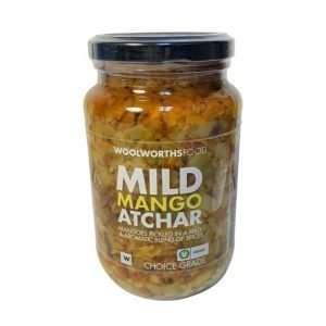 Woolworths Atchar Mango Mild 400g jar