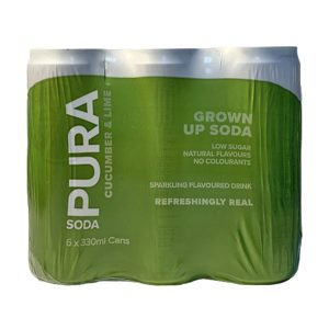 Pura Soda Pomegranate 6 X 300ml cans