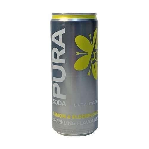 Pura Soda Lemon & Elderflower single 300ml can