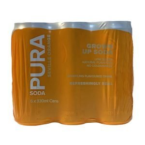 Pura Soda Seville Orange 6 X 300ml cans