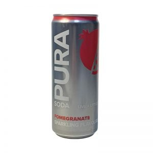 Pura Soda Pomegranate single 300ml can