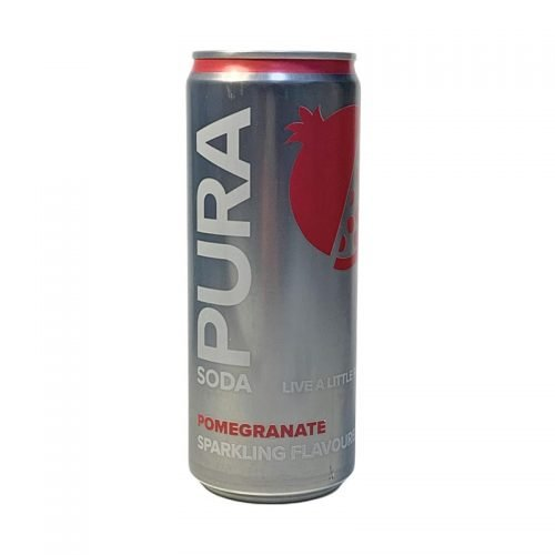 Pura Soda Pomegranate single 300ml can
