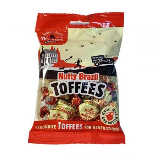 Walker's Nonsuch Nutty Brazil Toffees 150g bag