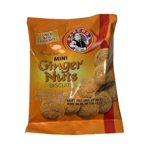 Bakers Ginger Nuts Mini's 40g pack