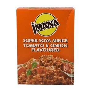 Imana Super Soya Mince Tomato & Onion 100g box