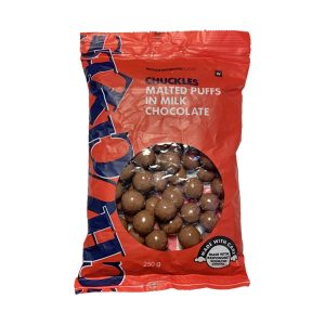 Woolworths Chuckles Malted Puffs (Red) 250g pack