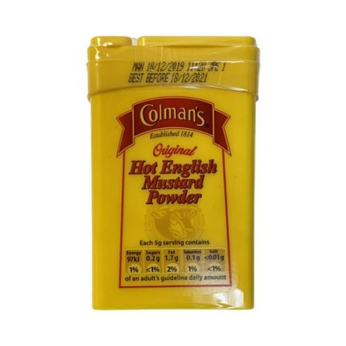 Colmans Hot English Mustard Powder 50g tin