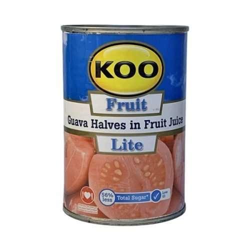 KOO Canned Fruit Guava Halves in Fruit Juice Lite 410g can