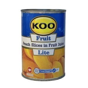 KOO Canned Fruit Peach Slices in Fruit Juice Lite 410g can